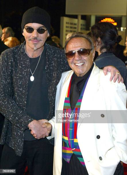 Actor Billy Bob Thornton poses with car customizer George Barris at the Arclight Cinema for the 40th Anniversary screening of the movie 'It's a Mad...
