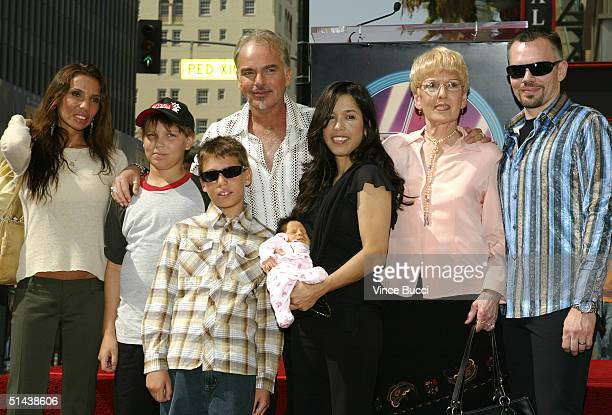 Actor Billy Bob Thornton poses with exwife Pietra Cherniak and their two sons William and Harry girlfriend Connie Angland and daughter Bella his mom...