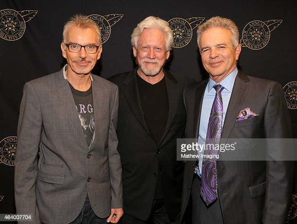 Actor Billy Bob Thorton Bruce Davidson and Tony Denison pose backstage at the 52nd Annual ICG Publicists Awards at The Beverly Hilton Hotel on...
