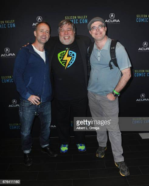 Actor Billy Boyd founder Steve Wozniak and writer Andy Weir at The WOZ Party Meet and Greet with Silicon Valley Comic Con Founder Steve Wozniak held...