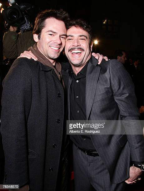 Actor Billy Burke and actor Jeffrey Dean Morgan arrive at the premiere of Warner Bros' 'PS I Love You' held at Grauman's Chinese Theater on December...