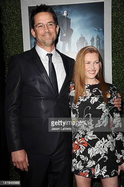 Actor Billy Campbell and actress Mireille Enos attend the season 2 premiere of AMC's The Killing at ArcLight Cinemas on March 26 2012 in Hollywood...
