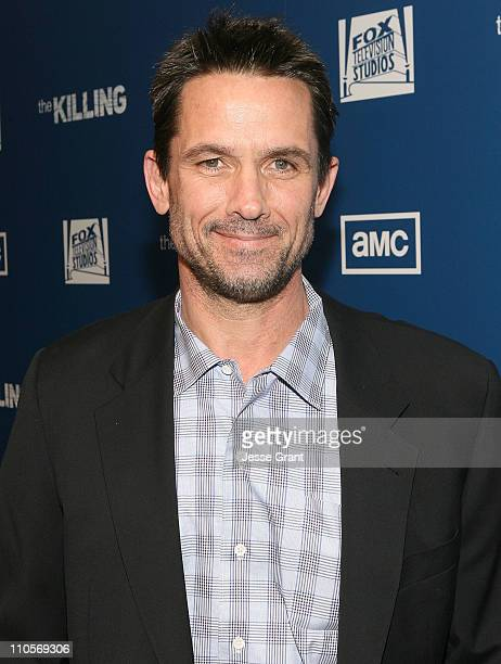 Actor Billy Campbell attends AMC's The Killing Premiere at Harmony Gold Theatre on March 21 2011 in Los Angeles California