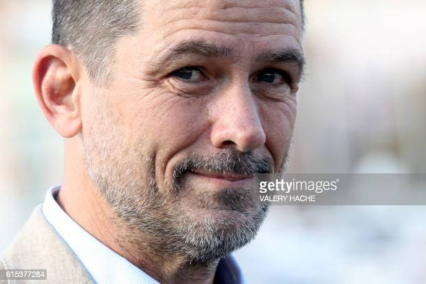 US actor Billy Campbell poses during a photocall for the TV serie Cardinal as part of the MIPCOM the world's entertainment content market on October...