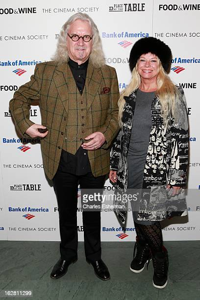 Actor Billy Connolly and wife Pamela Stephenson arrive at Bank of America and Food Wine with The Cinema Society present a screening of 'A Place at...