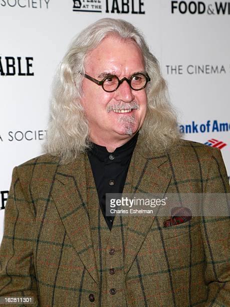 Actor Billy Connolly arrives at Bank of America and Food Wine with The Cinema Society present a screening of 'A Place at the Table' at the Celeste...