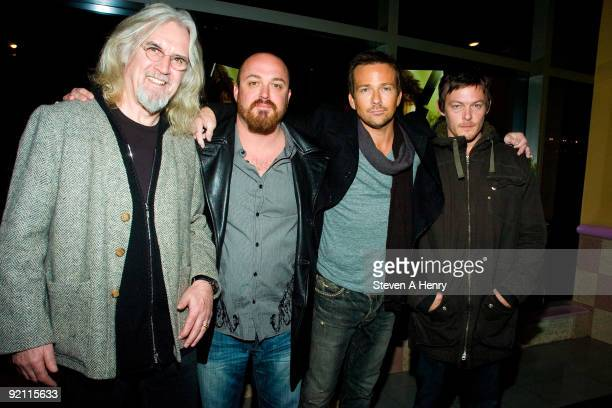 Actor Billy Connolly director Troy Duffy and actors Sean Patrick Flannery and Norman Reedus attend 'The Boondock Saints II All Saints Day' New York...