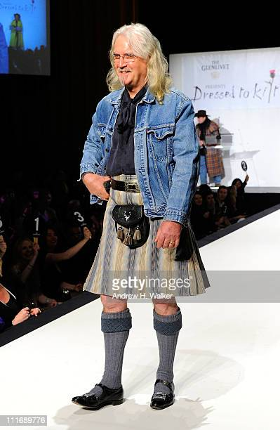 Actor Billy Connolly walks the runway at the 9th Annual Dressed To Kilt charity fashion show at Hammerstein Ballroom on April 5 2011 in New York City