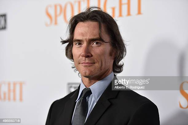 "Actor Billy Crudup attends a special screening of Open Road Films' ""Spotlight"" at The DGA Theater on November 3, 2015 in Los Angeles, California."