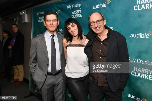 Actor Billy Crudup director Leigh Silverman and playwright David Cale attend the Harry Clarke Opening Night at the Minetta Lane Theatre on March 18...