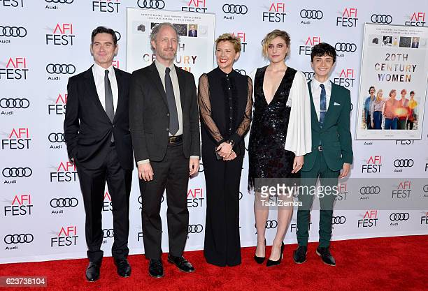 Actor Billy Crudup, director Mike Mills, actress Annette Bening; actress Greta Gerwig and actor Lucas Jade Zumann attend a tribute to Annette Bening...