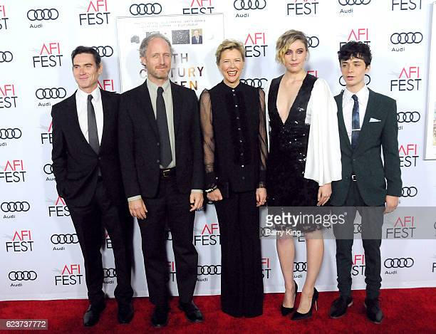 Actor Billy Crudup, director Mike Mills, actresses Annette Bening and Greta Gerwig and actor Lucas Jade Zumann attend a tribute to Annette Bening and...