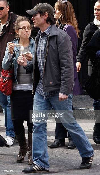 Actor Billy Crudup walks on the Streets of Manhattan on October 30 2009 in New York City