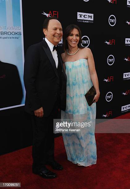 Actor Billy Crystal and actress Jennifer Crystal Foley attend AFI's 41st Life Achievement Award Tribute to Mel Brooks at Dolby Theatre on June 6 2013...