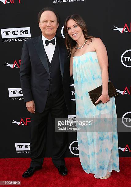 Actor Billy Crystal and daughter actress Jennifer Crystal Foley attend the 41st AFI Life Achievement Award honoring Mel Brooks at Dolby Theatre on...