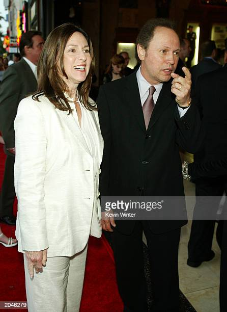 Actor Billy Crystal and his wife Janice arrive at the opening night of Mel Brooks' The Producers at the Pantages Theatre on May 29 2003 in Los...