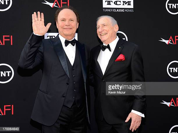 Actor Billy Crystal and honoree Mel Brooks attend AFI's 41st Life Achievement Award Tribute to Mel Brooks at Dolby Theatre on June 6, 2013 in...