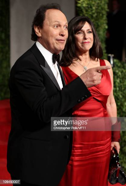Actor Billy Crystal and Janice Crystal attend the 2011 Vanity Fair Oscar Party Hosted by Graydon Carter at the Sunset Tower Hotel on February 27,...
