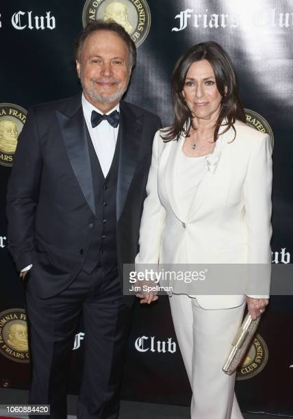 Actor Billy Crystal and Janice Crystal honorered by the Friar's Club with the Entertainment Icon Award at The Ziegfeld Ballroom on November 12 2018...
