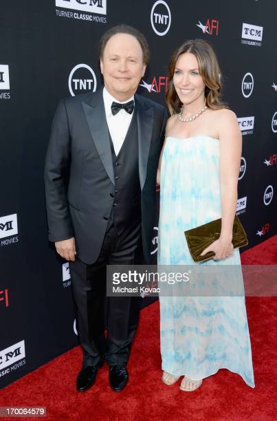 Actor Billy Crystal and Jenny Crystal attend 41st AFI Life Achievement Award Honoring Mel Brooks at Dolby Theatre on June 6, 2013 in Hollywood,...