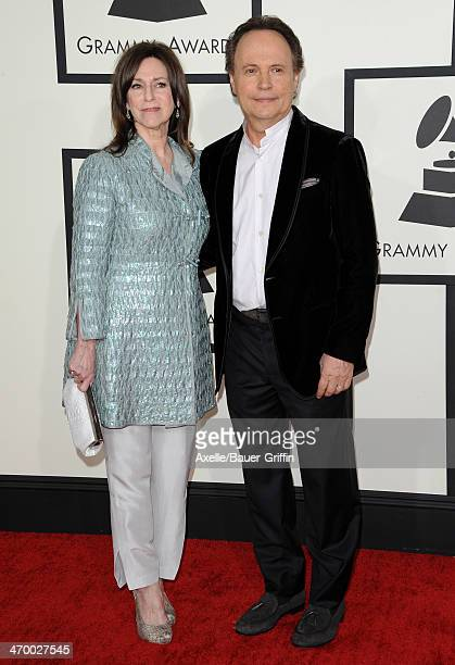Actor Billy Crystal and wife Janice Crystal arrive at the 56th GRAMMY Awards at Staples Center on January 26 2014 in Los Angeles California