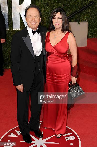 Actor Billy Crystal and wife Janice Crystal arrive at the Vanity Fair Oscar party hosted by Graydon Carter held at Sunset Tower on February 27 2011...