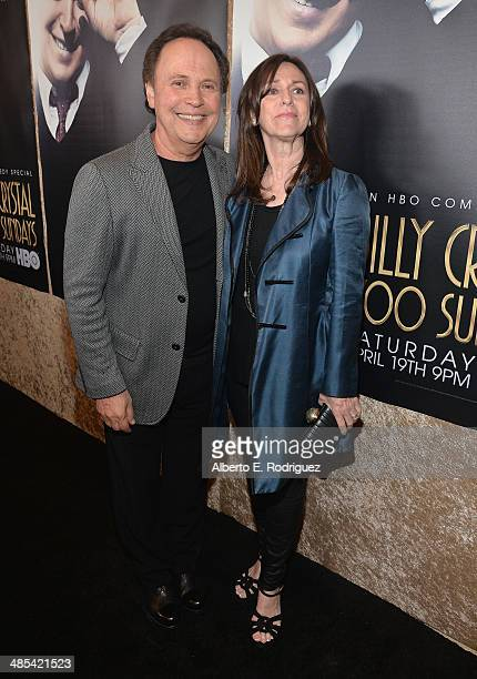 """Actor Billy Crystal and wife Janice Crystal arrive to an exclusive presentation of HBO's """"Billy Crystal 700 Sundays"""" at Ray Kurtzman Theater on April..."""