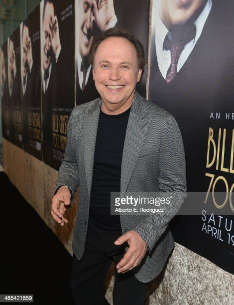 """Actor Billy Crystal arrives to an exclusive presentation of HBO's """"Billy Crystal 700 Sundays"""" at Ray Kurtzman Theater on April 17, 2014 in Los..."""