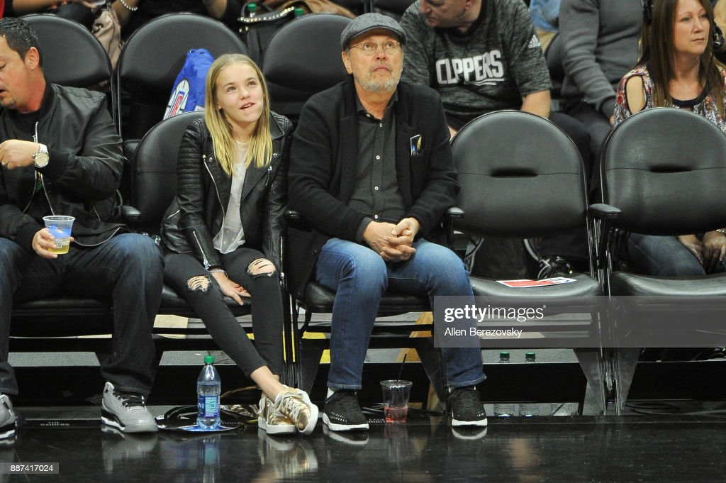 Actor Billy Crystal attends a basketball game between the Los Angeles Clippers and the Minnesota Timberwolves at Staples Center on December 6, 2017 in Los Angeles, California.