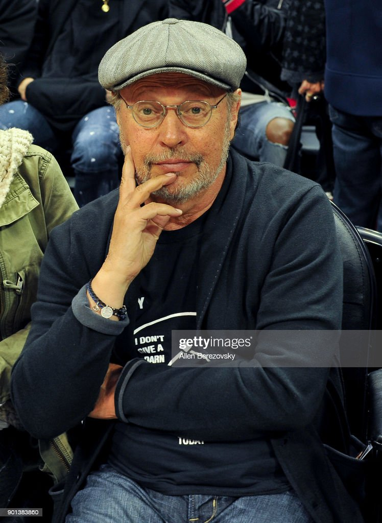 Actor Billy Crystal attends a basketball game between the Los Angeles Clippers and the Oklahoma City Thunder at Staples Center on January 4, 2018 in Los Angeles, California.