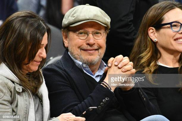 Actor Billy Crystal attends a basketball game between the Los Angeles Clippers and the Milwaukee Bucks at Staples Center on March 27 2018 in Los...