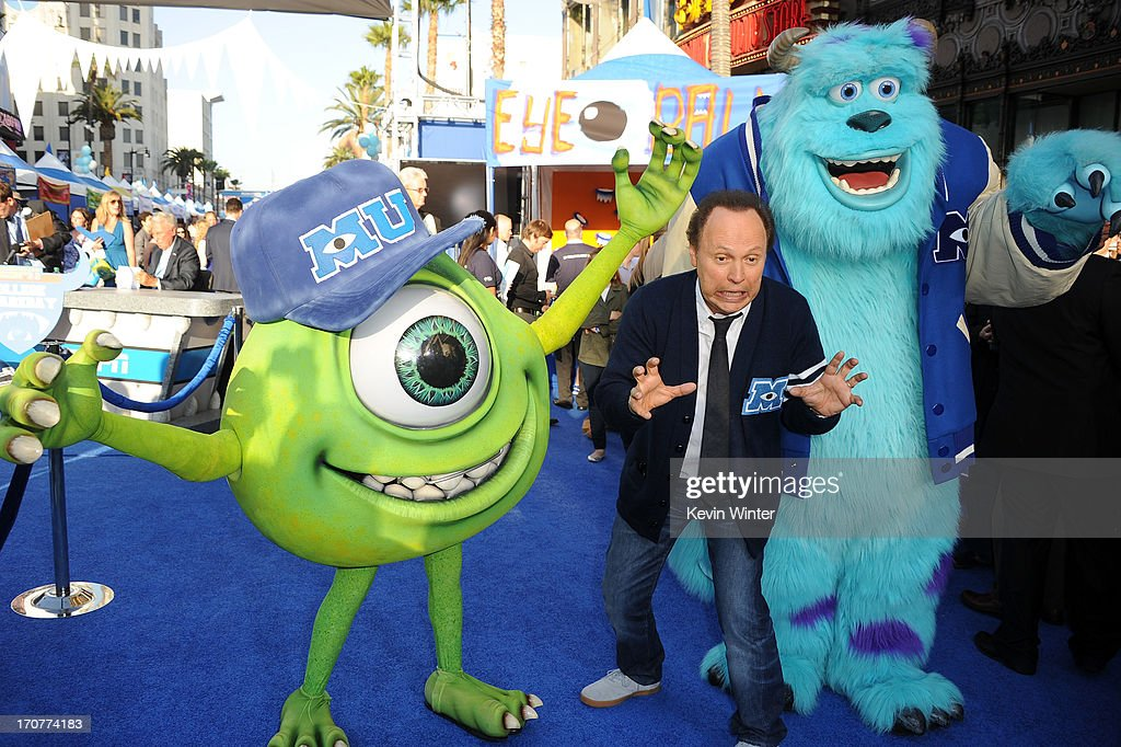 Actor Billy Crystal attendst the world premiere of Disney Pixar's 'Monsters University' at the El Capitan Theatre on June 17, 2013 in Hollywood, California.