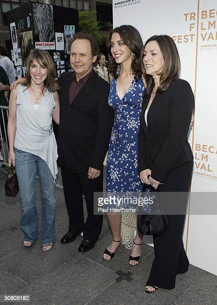 Actor Billy Crystal his wife Janice Crystal and daughters director Lindsay Crystal and Jennifer Crystal Foley attend the premiere of My Uncle Berns...