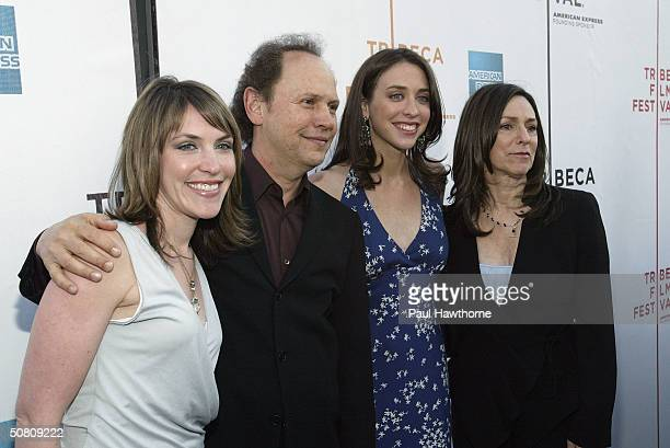Actor Billy Crystal his wife Janice Crystal and daughters director Lindsay Crystal and Jennifer Crystal Foley attend the premiere of 'My Uncle Berns'...