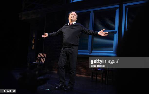 Actor Billy Crystal performs on stage during the curtain call of the Billy Crystal's '700 Sundays' Broadway Opening Night at the Imperial Theatre on...