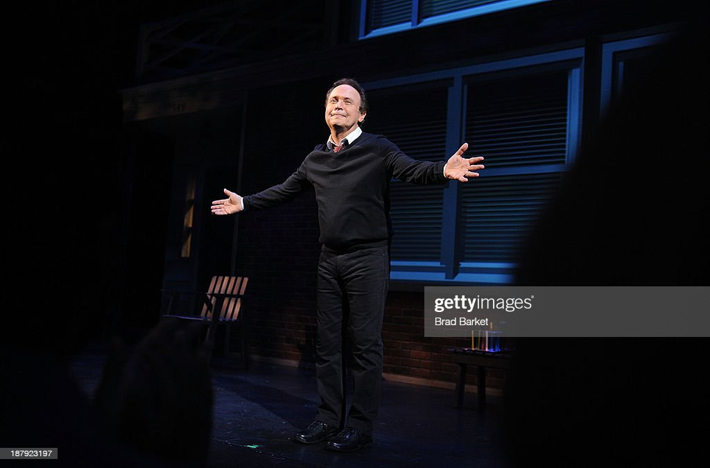 Actor Billy Crystal performs on stage during the curtain call of the Billy Crystal's '700 Sundays' Broadway Opening Night at the Imperial Theatre on November 13, 2013 in New York City.
