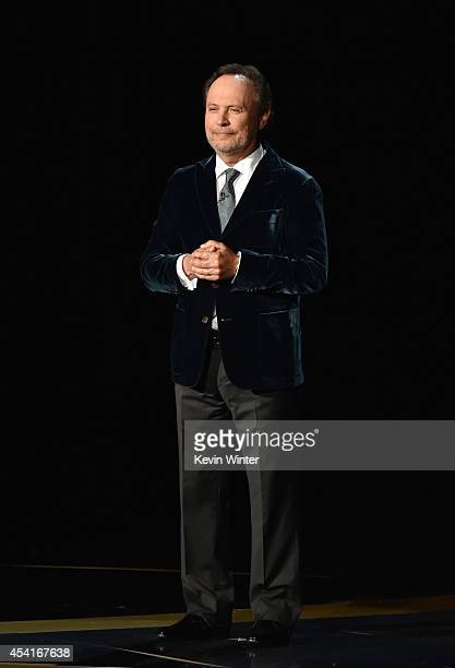 Actor Billy Crystal speaks onstage at the 66th Annual Primetime Emmy Awards held at Nokia Theatre LA Live on August 25 2014 in Los Angeles California