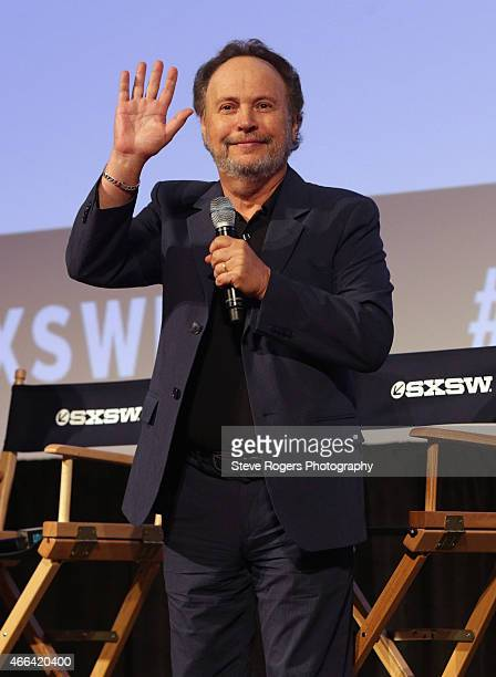 Actor Billy Crystal speaks onstage at the premiere of 'The Comedians' during the 2015 SXSW Music Film Interactive Festival at Austin Convention...
