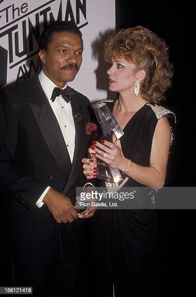 Actor Billy Dee Williams and actress Lisa Eilbacher attending First Annual Stuntman Awards Show on February 2 1985 at KABC TV Studios in Los Angeles...
