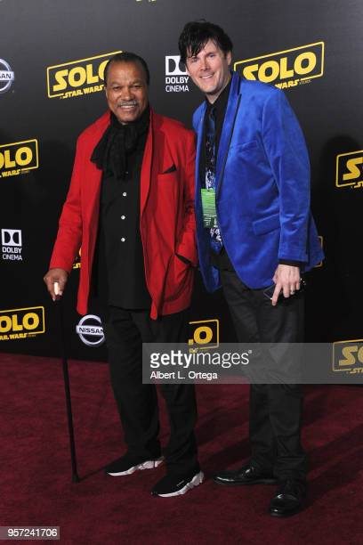 Actor Billy Dee Williams and Derek Maki arrive for the Premiere Of Disney Pictures And Lucasfilm's Solo A Star Wars Story held on May 10 2018 in Los...