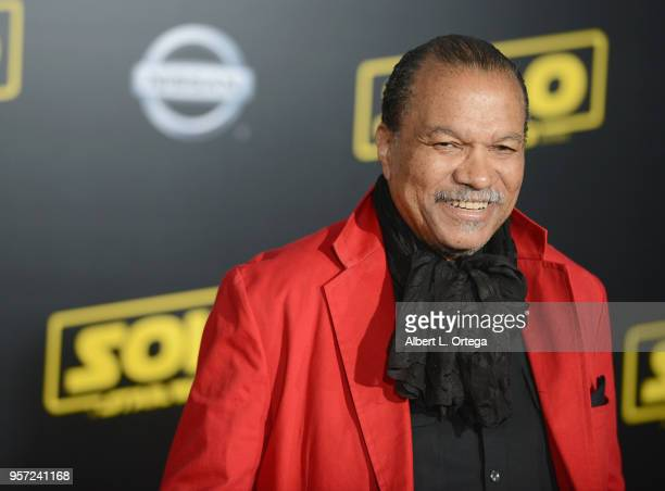Actor Billy Dee Williams arrives for the Premiere Of Disney Pictures And Lucasfilm's Solo A Star Wars Story held on May 10 2018 in Los Angeles...