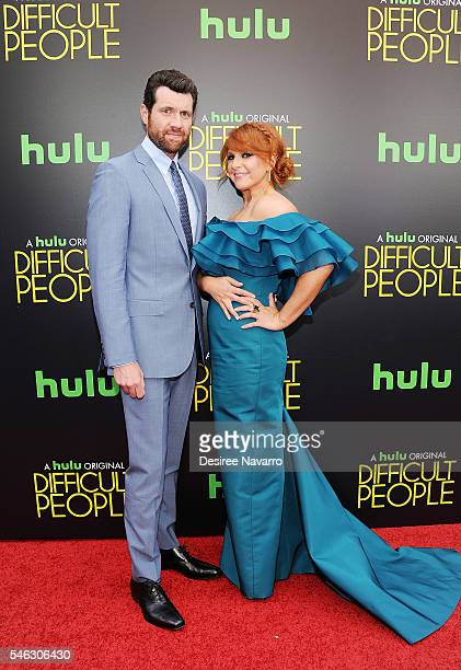 Actor Billy Eichner and creator Julie Klausner attend 'Difficult People' New York Premiere at The Metrograph on July 11 2016 in New York City