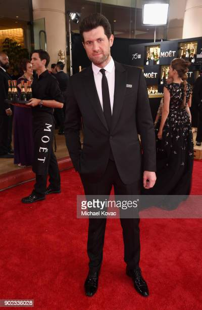 Actor Billy Eichner celebrates The 75th Annual Golden Globe Awards with Moet Chandon at The Beverly Hilton Hotel on January 7 2018 in Beverly Hills...