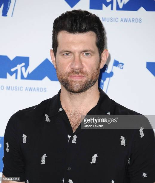 Actor Billy Eichner poses in the press room at the 2017 MTV Video Music Awards at The Forum on August 27 2017 in Inglewood California