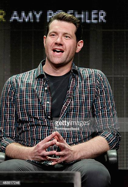 Actor Billy Eichner speaks onstage during the Difficult People panel at the Hulu 2015 Summer TCA Presentation at The Beverly Hilton Hotel on August 9...