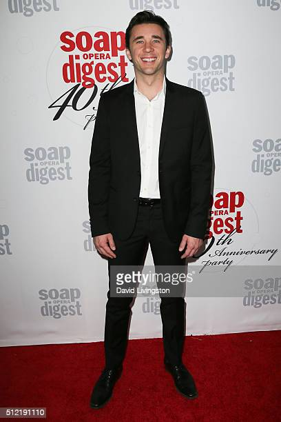 Actor Billy Flynn arrives at the 40th Anniversary of the Soap Opera Digest at The Argyle on February 24 2016 in Hollywood California