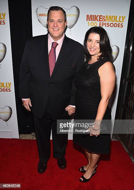 Actor Billy Gardell and Patty Gardell attend CBS's Mike Molly 100th Episode celebration at Cicada on January 31 2015 in Los Angeles California