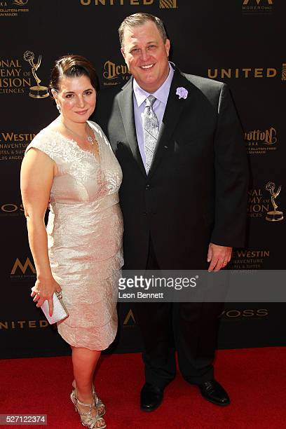 Actor Billy Gardell and Patty Gardell attends the 2016 Daytime Emmy Awards Arrivals at Westin Bonaventure Hotel on May 1 2016 in Los Angeles...