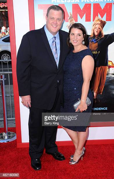 Actor Billy Gardell and wife Patty Gardell arrive at the Los Angeles Premiere 'Tammy' on June 30 2014 at TCL Chinese Theatre in Hollywood California