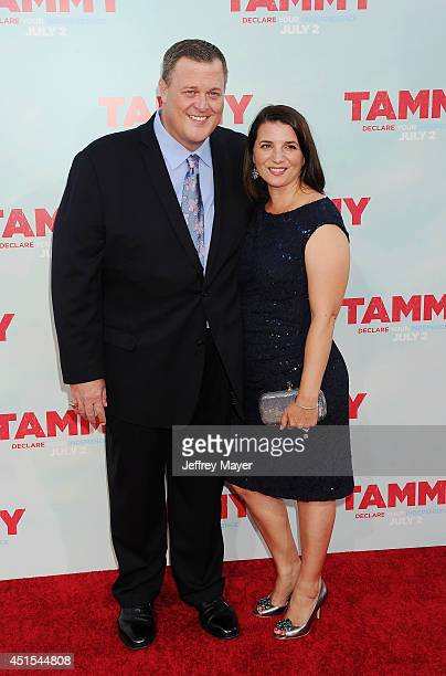Actor Billy Gardell and wife Patty Gardell arrive at the 'Tammy' Los Angeles Premiere at TCL Chinese Theatre on June 30 2014 in Hollywood California
